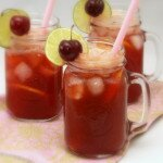 Cherry Lemon Limeade made with Stevia
