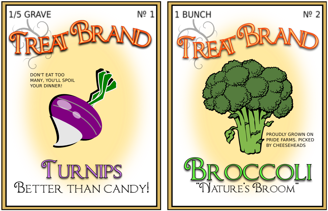 Trick Labels for Halloween Treats – Free downloadable PDF